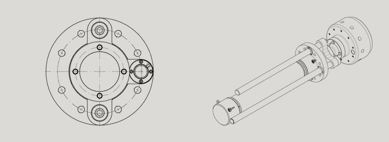 Hydraulikzylinder aus Edelstahl